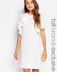 Цельнокройное платье с короткими рукавами и оборкой Alter Tall
