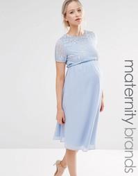 Короткое приталенное платье с отделкой пайетками Maya Maternity
