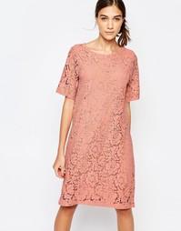 Цельнокройное кружевное платье Selected Dacia - Песок пустыни