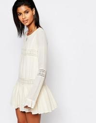 Платье с расклешенными рукавами Tularosa Berkley - Кремовый