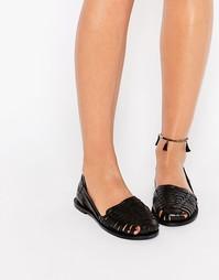 Кожаные туфли Boohoo Huarache - Черный
