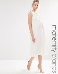 Короткое приталенное платье из кружева для беременных Little Mistress