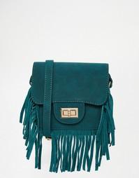 Сумка на плечо с бахромой Glamorous - Сине-зеленый