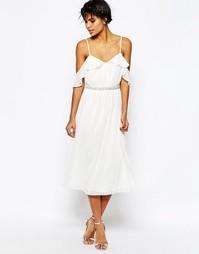 Платье миди ASOS - Белый