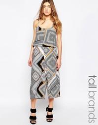 Комбинезон с юбкой‑шортами и платочным принтом Influence Tall - Мульти