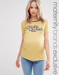Футболка для беременных с надписью Keep On Dancing Bluebelle Maternity