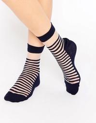 Полупрозрачные носки в бретонскую полоску ASOS - Темно-синий