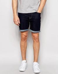 Джинсовые шорты слим с отворотами Only & Sons - Indigo - индиго
