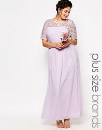 Шифоновое платье макси с отделкой Lovedrobe - Фиолетовый