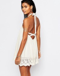 Свободное платье с открытой спиной Tularosa Holden - Естественный
