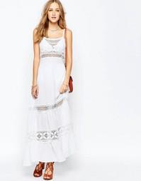Платье макси на тонких бретельках с отделкой кроше Gypsy 05