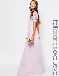 Шифоновое платье макси с отделкой Maya Tall - Лаванда