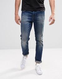 Темные джинсы слим Only & Sons - Темный синий