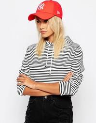 Неоновая кепка New Era 9Forty NY - Красный