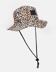 Панама с леопардовым принтом ASOS Safari - Черный