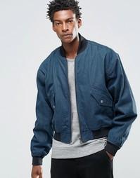 Свободная джинсовая куртка-пилот ASOS - Синий
