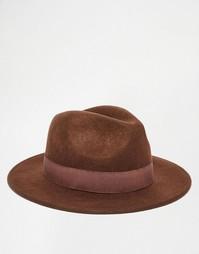 Мягкая фетровая шляпа коричневого цвета ASOS - Коричневый