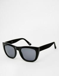 Большие квадратные солнцезащитные очки в черной прорезиненной оправе A Asos