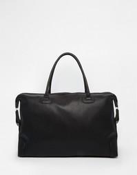 Черная фактурная сумка из искусственной кожи ASOS - Черный