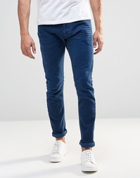 Синие эластичные джинсы скинни Diesel Jeans Tepphar 850Y - Синий