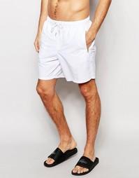 Белые шорты для купания с золотистыми молниями ASOS - Белый
