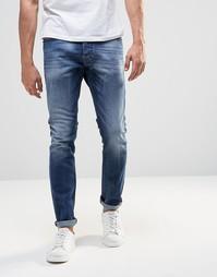 Стретчевые джинсы скинни Diesel Tepphar 848C - Умеренный выбеленный