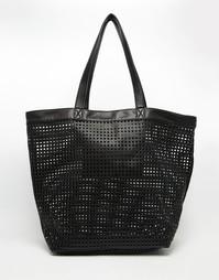 Пляжная сумка-шоппер с вырезами ASOS - Черный