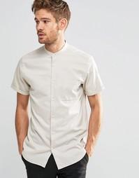 Рубашка слим на пуговицах с короткими рукавами Selected Homme - Белый
