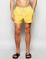 Желтые короткие шорты для плавания в спортивном стиле ASOS - Желтый