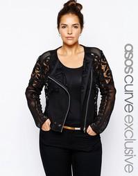 Кружевная куртка эксклюзивно для ASOS CURVE - Черный