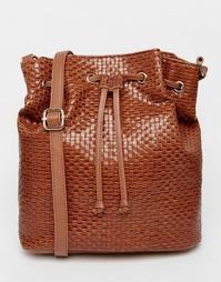 Тканая сумка дафл ASOS - Коричневый
