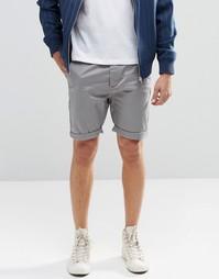 Серые зауженные шорты чиносы ASOS - Теплый серый