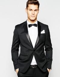 Черный пиджак-смокинг скинни ASOS - Черный