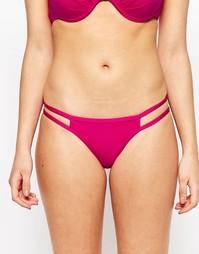 Ярко-розовые плавки бикини с лямками Lipsy - Hot pink