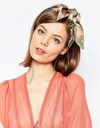 Головной платок с фотографическим цветочным принтом ASOS - Мульти