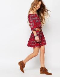 Комбинируемая юбка с принтом Hollister - Красный