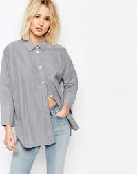 Рубашка в полоску Weekday - Сине-белая полоска