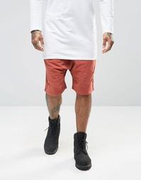 Состаренные шорты Granted - Красно-бурый