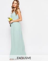 Платье макси с запахом и отделкой TFNC WEDDING - Morning mist