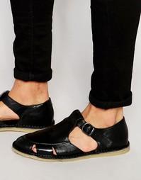 Кожаные сандалии Kurt Geiger Dwight - Черный