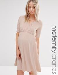Платье с запахом и короткими рукавами Bluebelle Maternity - Розовый