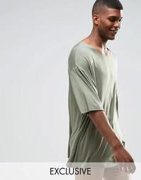 Драпированная oversize‑футболка Reclaimed Vintage - Хаки