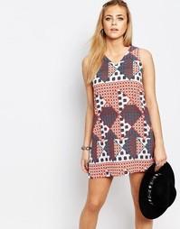 Цельнокройное платье с графическим принтом Boohoo - Мульти