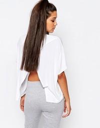 Oversize-футболка с открытой спиной Missguided - Белый