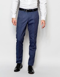 Легкие повседневные брюки слим с поясом Selected Homme - Синий