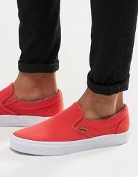 Красные кеды-слипоны Vans V4OUIT2 - Красный