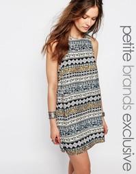 Цельнокройное платье с принтом Glamorous Petite - Мульти