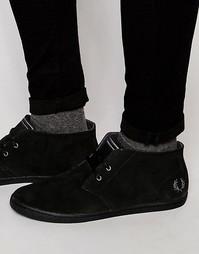 Замшевые ботинки чукка Fred Perry Byron - Черный