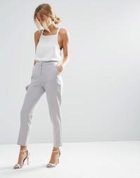 Приталенные брюки ASOS Premium - Серебряный