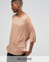 Драпированная oversize‑футболка Reclaimed Vintage - Коричневый